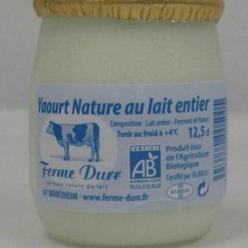 yaourt nature bio 12.5 cl