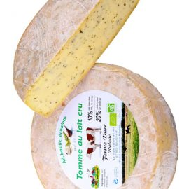 Tomme Alsace 20% Ail Echalote Basilic