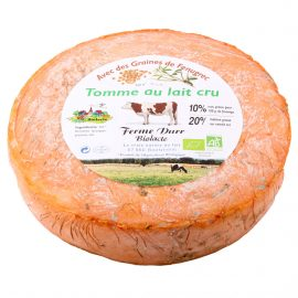 Tomme d'Alsace bio avec des Graines de Fenugrec 200g