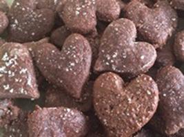 Petit coeur amande chocolat bio